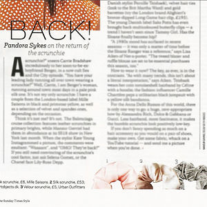 Sunday Times Style Pandora Sykes Scrunch