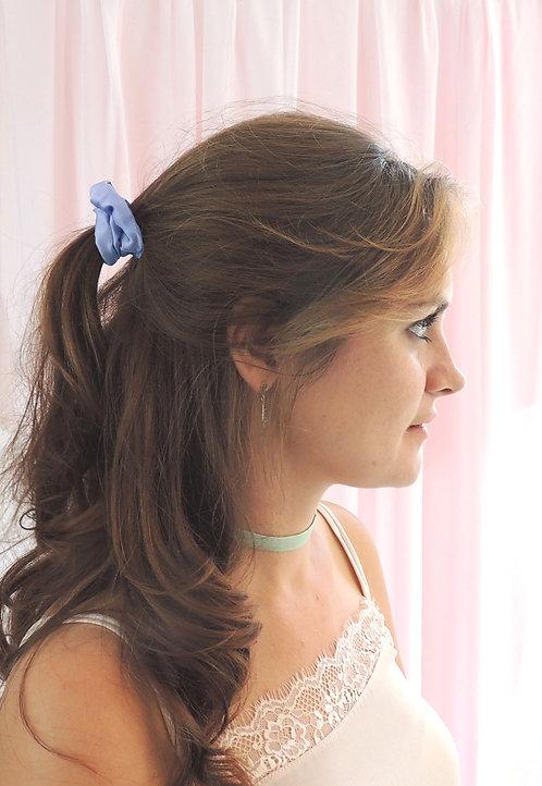 Pale Blue Silk Mini Astrid Scrunchie