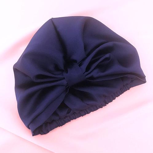 French Navy Silk Capuchon