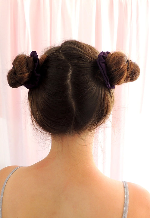 Amethyst Silk Mini Astrid Scrunchie