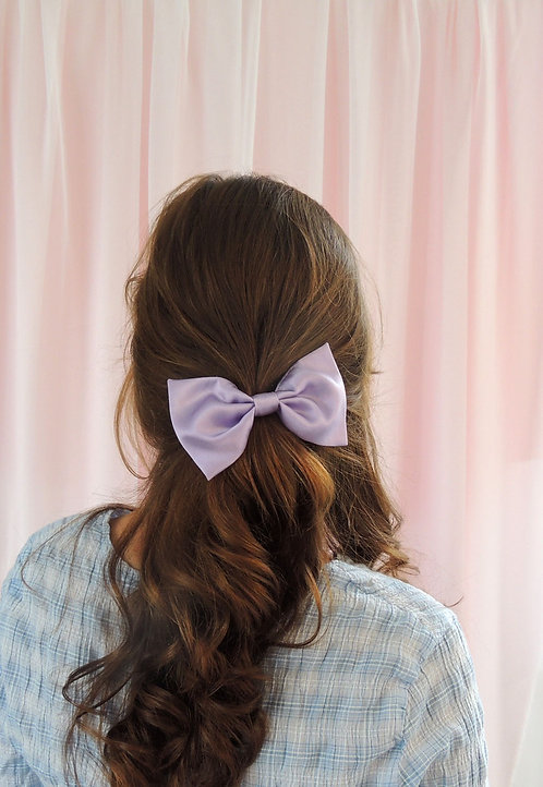 Lilac Silk Lily Hair Bow
