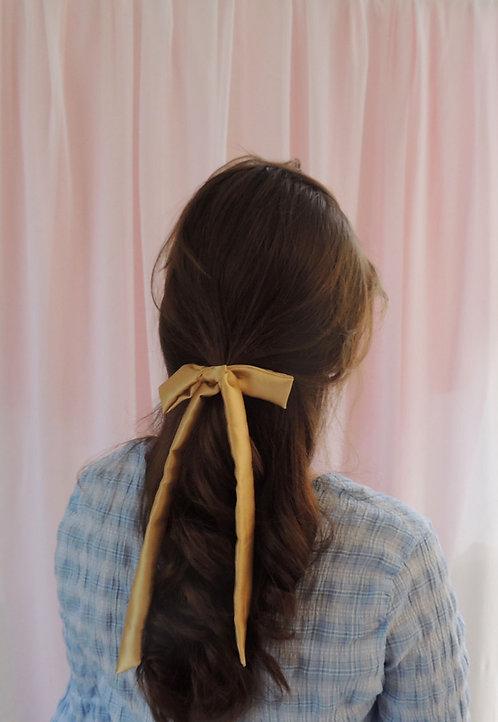 Gold Silk Tess Hair Ribbon