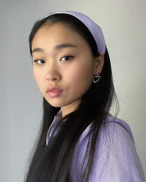 Lilac Silk Audrey Headscarf