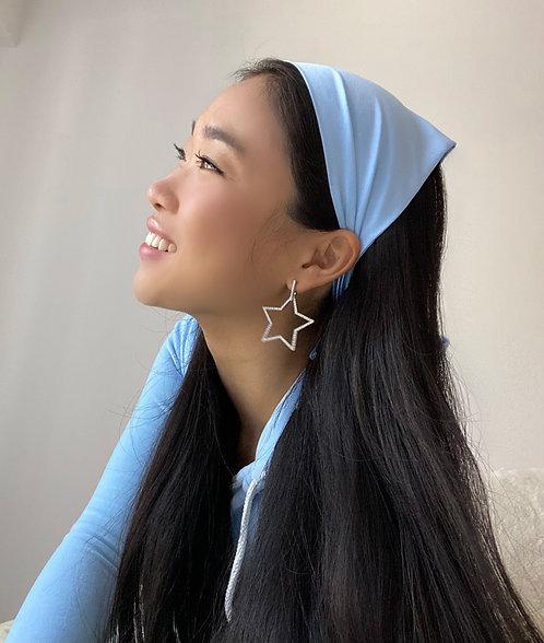 Pale Blue Silk Audrey Headscarf