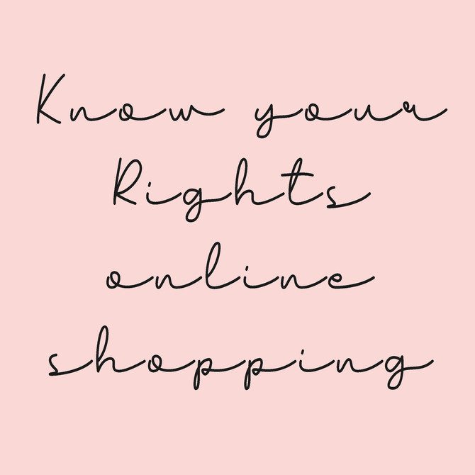 Know Your Online Shopping Rights
