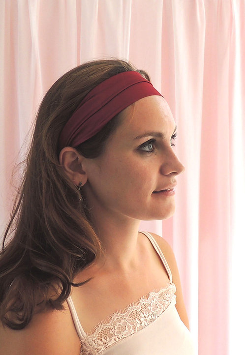Burgundy Silk Anya Headband