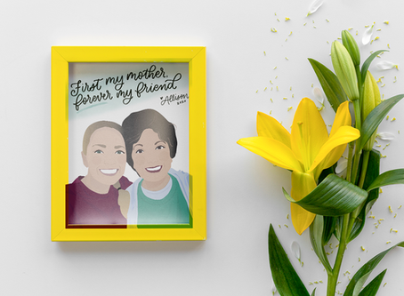 Now offering custom digital illustrations for Mother's Day!