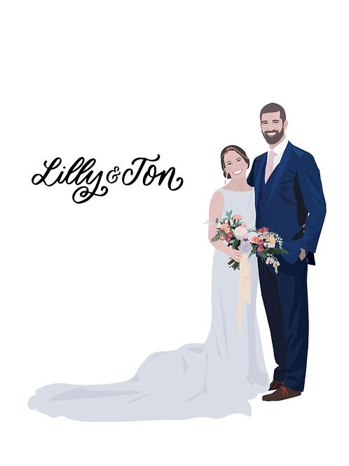 Custom Illustration | Custom Portrait | Couple Portrait