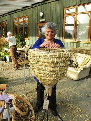 lady making sun hive.jpg