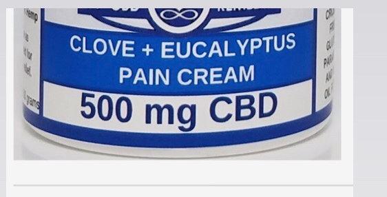 500mg Eucalyptus + Clove Pain cream