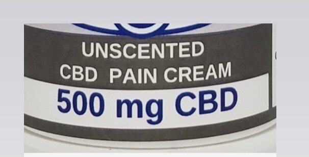 500mg Unscented Pain Cream