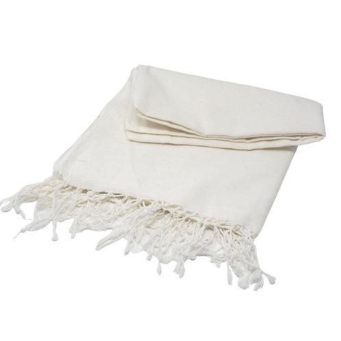 handwoven handspun cotton scarf