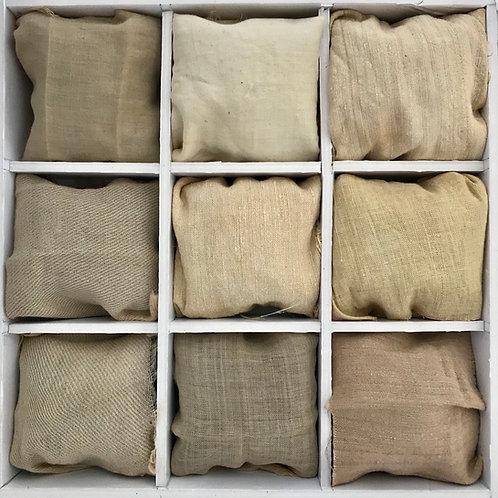 Oak bark natural dyes shades on textiles