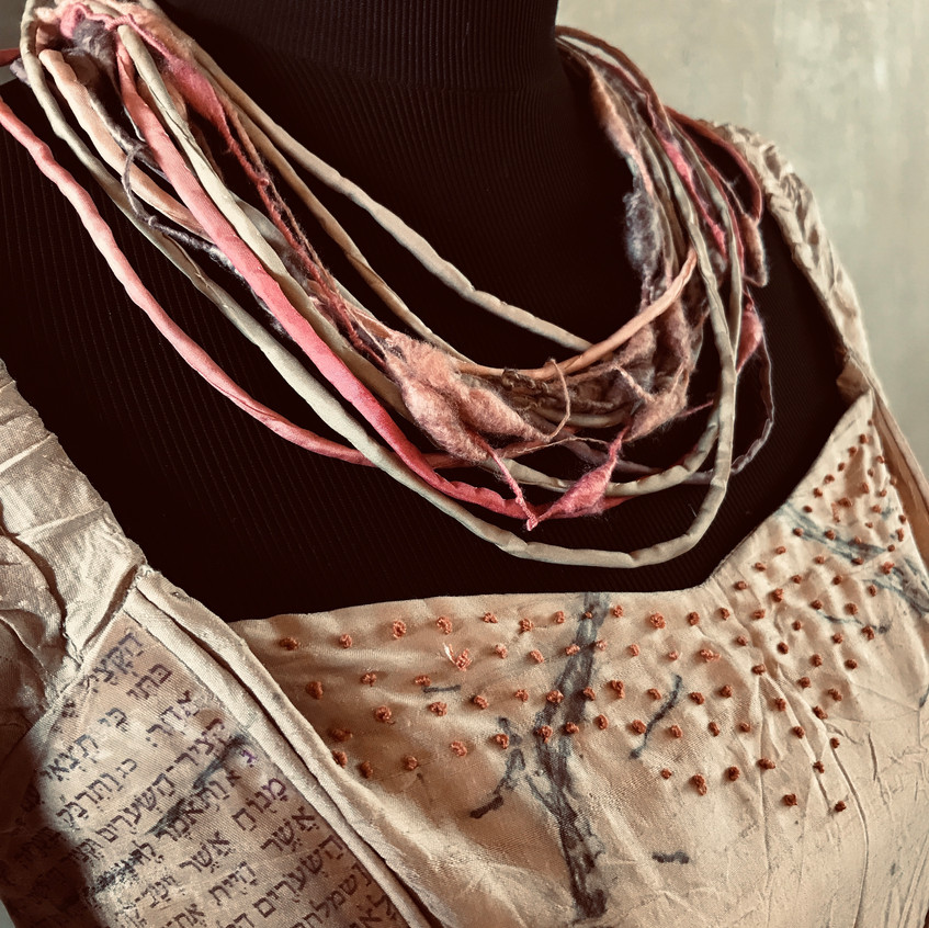 silk strings dyed with walnut and madder