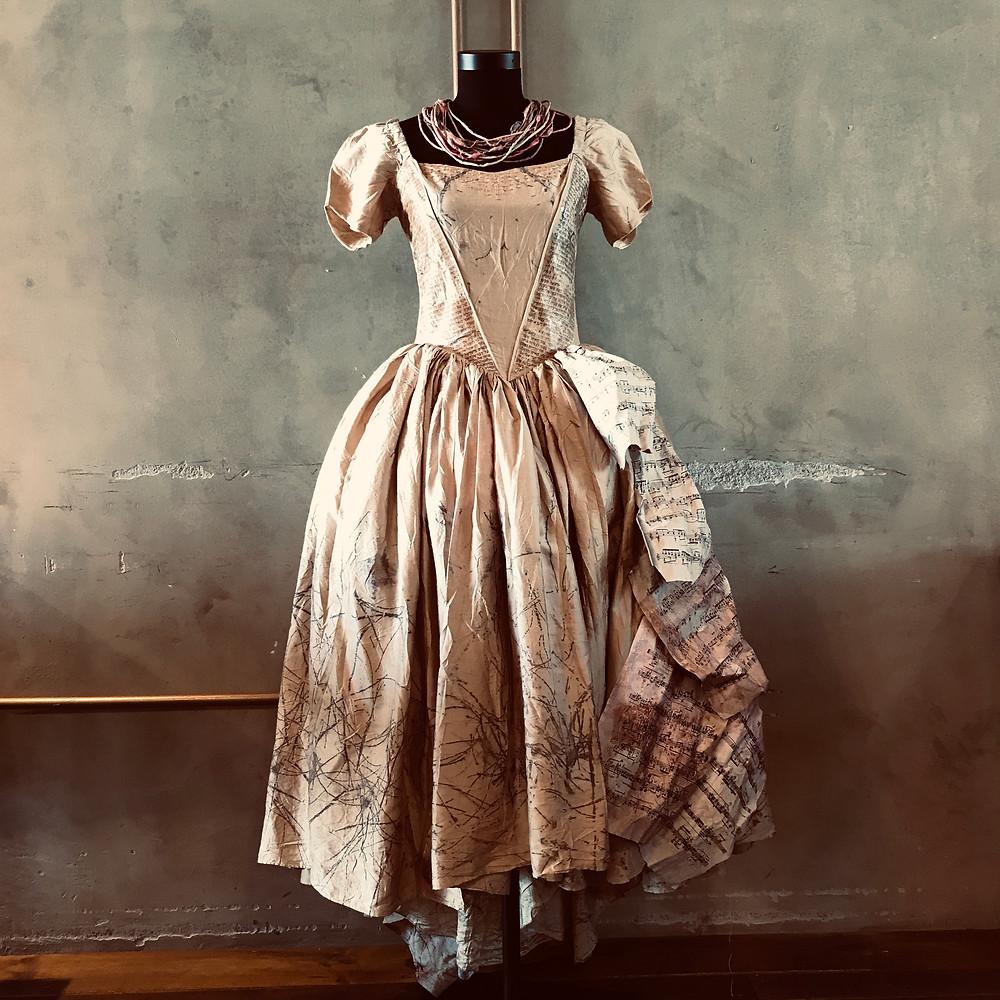 Redemption dress. Ecoprinted wedding dress