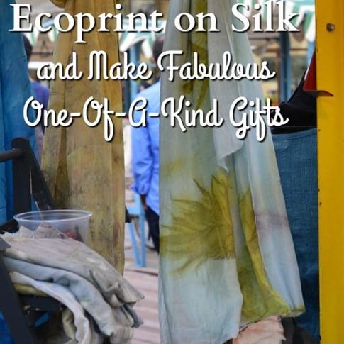 Stap voor stap ecoprinten met zijde