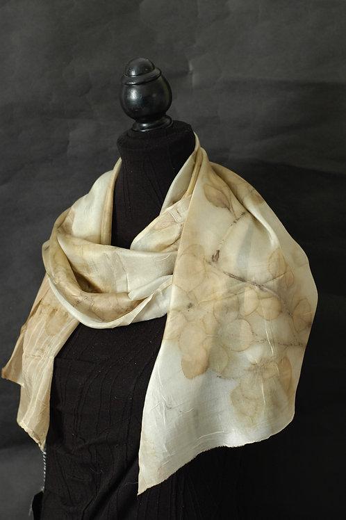 Sheer silk and eucalyptus ecoprint