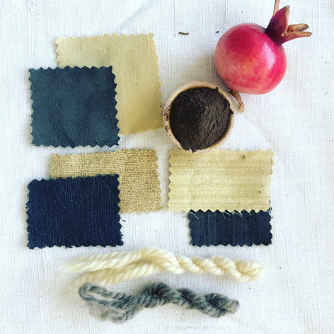 pomegranate natural dye research