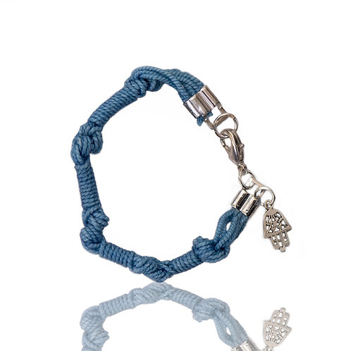 Extra Long The Blue Bracelet with Chamsa