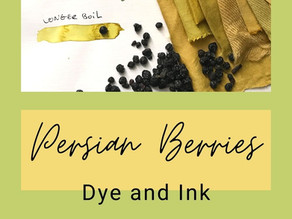Persian Berries, dye and ink