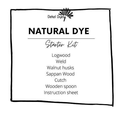 Natural Dye Powder Starter Kit (incl basic instructions)