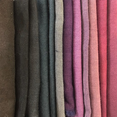 Natural dye samples of logwood