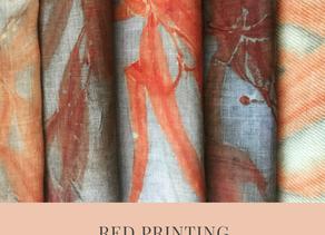Red Eucalyptus Eco Prints