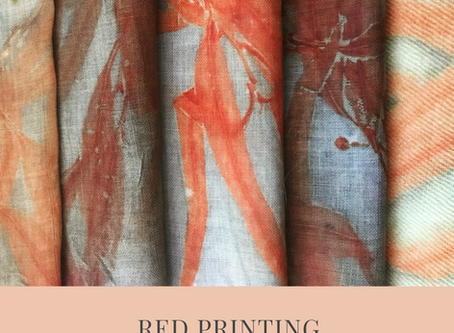 Red Eucalyptus Eco Prints