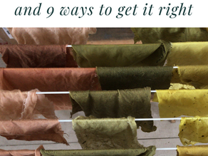 9 reasons your natural dye project went wrong.