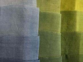Compound colours; Indigo and Weld greens