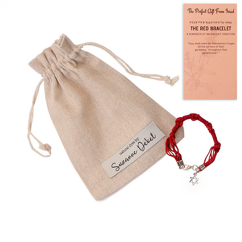 Red bracelet with Star of David