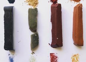 DIY Mayan Blue and Wax Crayons with Natural Pigments