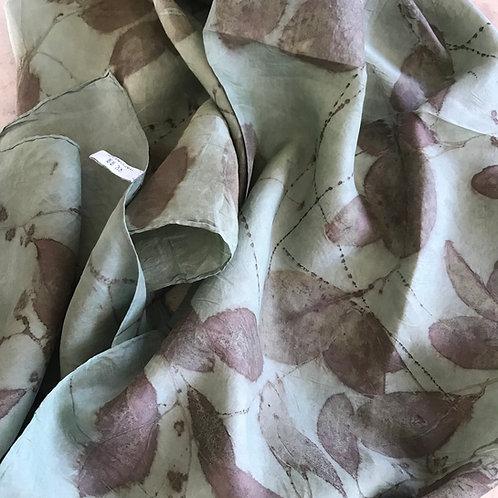'Aqua' silk,Hand-Hemmed Habotai silk