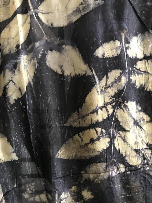 Golden Rain Ecoprint on Silk