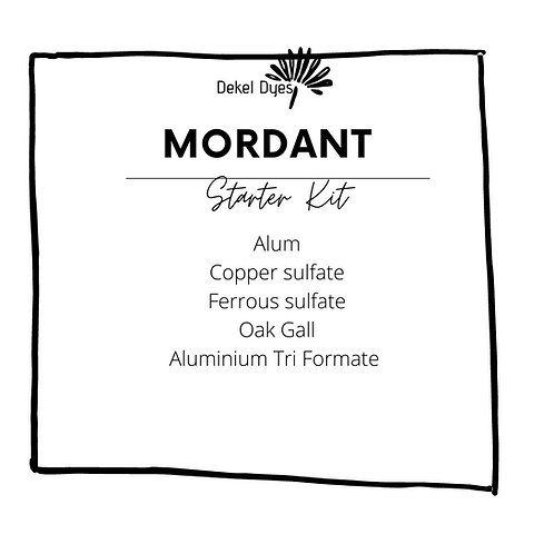 Mordant kit for starters + basic recipe leaflet