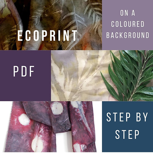 PDF: Make a dye bath and dye blanket for eco print with a coloured background