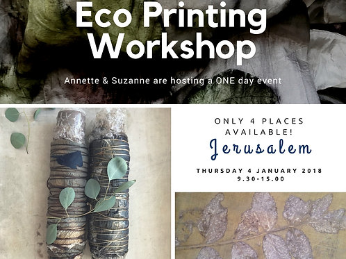 One Day Eco Print Workshop in Jerusalem