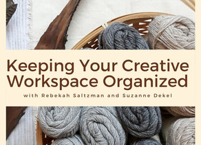 Keeping you creative workspace organized, with professional organizer Rebekah Saltzman.