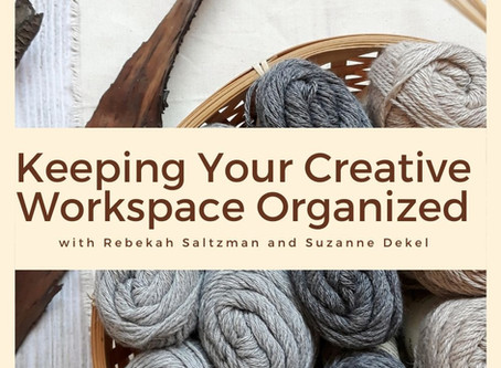 Keeping you creative workspace organized, with professional organizer Rebekah Saltzman.