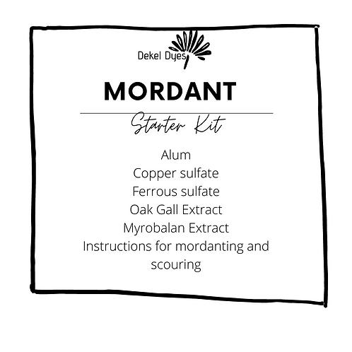 Mordant kit for starters + basic recipe leaflet