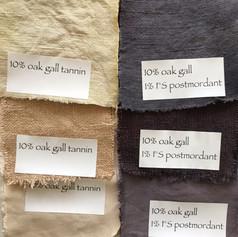 יצירת שחור טבעי עם טאנינים וברזל שונים
