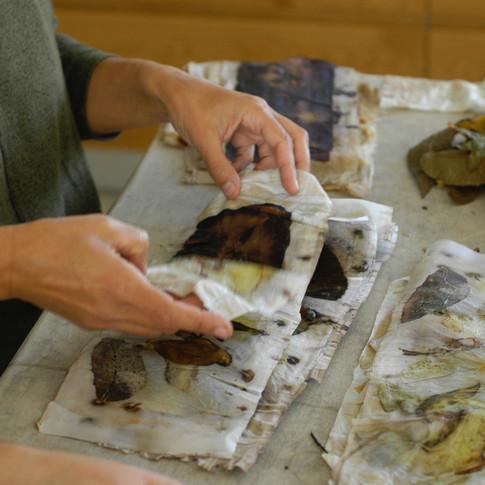 Eco print workshop in Israel