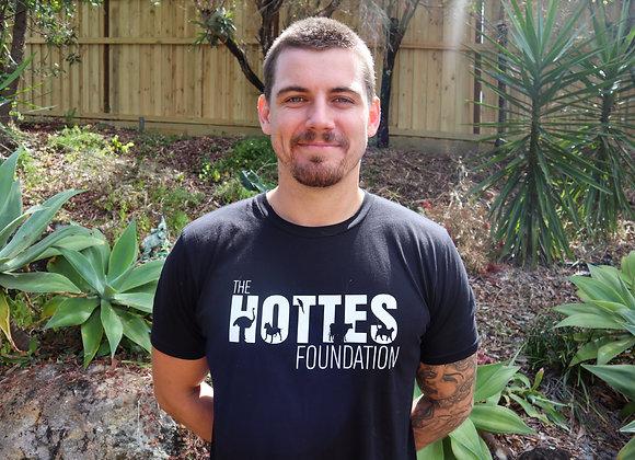 The Hottes Foundation logo t-shirt