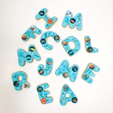 Big Letters cookies