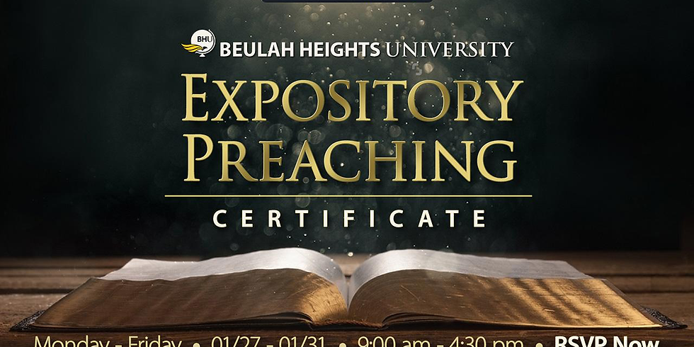 EXPOSITORY PREACHING CERTIFICATE