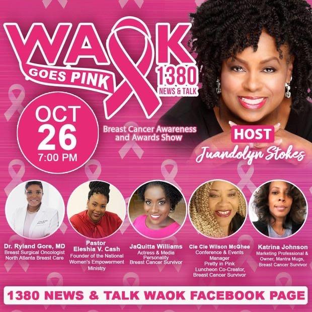 WAOK 1380 News & Talk - Goes Pink!