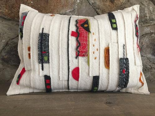 Modern strips pillow