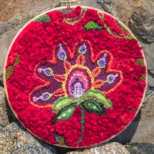 Embroidered and Roving Flower