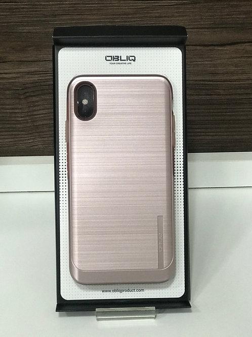 Capa Protetora Obliq Slim Meta para Iphone Xs max Rose Gold
