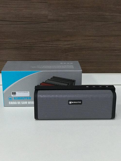 Caixa De Som Bluetooth Kimaster K331 Cinza